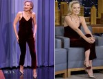 Margot Robbie In Derek Lam 10 Crosby - The Tonight Show Starring Jimmy Fallon