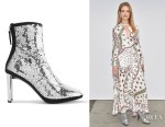 Natalia Vodianova's Giuseppe Zanotti Luce Sequined Ankle Boots