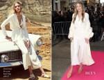 Gigi Hadid In E S P &  Zeynep Arçay - Stuart Weitzman 'Gigi' Mules Launch