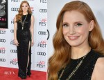 Jessica Chastain In Elie Saab - 'Molly's Game' AFI FEST Screening