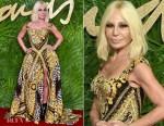 Donatella Versace In Versace - The Fashion Awards 2017