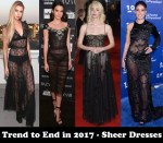 Trend to End in 2017 - Sheer Dresses