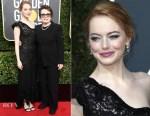 Emma Stone In Louis Vuitton - 2018 Golden Globe Awards