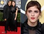 Emma Watson In Ronald van der Kemp - 2018 Golden Globe Awards