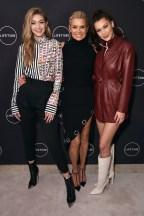 Bella Hadid In Situationist, Gigi Hadid In Versace & Yolanda Hadid In David Koma