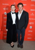 Keira Knightley and Dominic West attend the 'Colette' Premiere during the 2018 Sundance Film Festival