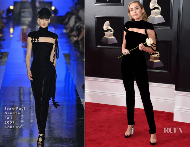 Miley Cyrus In Jean Paul Gaultier Couture 2018 Grammy