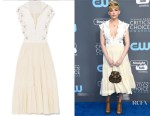 Haley Bennett's Chloe Embellished Midi Dress