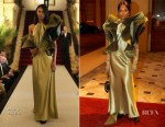 Naomi Campbell In Vintage Pierre Cardin - The Commonwealth Fashion Exchange Reception