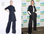 Rita Ora In Adam Lippes, Nicolas Jebran Couture & Prada - SiriusXM & The Tonight Show Starring Jimmy Fallon