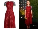 Tatiana Maslany's Mary Katrantzou Robin Sequin-Embellished Dress