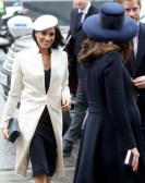 Meghan Markle and Catherine, Duchess of Cambridge attend the 2018 Commonwealth Day service at Westminster Abbey on March 12, 2018 in London, England.