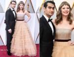 Kumail Nanjiani In Ermenegildo Zegna Couture & Emily V. Gordon In J. Mendel - 2018 Oscars