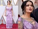 Salma Hayek In Gucci - 2018 Oscars