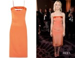 Saoirse Ronan's Cushnie et Ochs Mariela Cutout Satin-Trimmed Dress