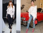 Jamie Chung In Self-Portrait - Yardbird Southern Table & Bar Los Angeles Grand Opening