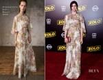Alexandra Daddario In Giambattista Valli -  'SOLO: A Star Wars Story' LA Premiere