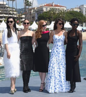 Fan Bingbing, Marion Cotillard, Jessica Chastain, Penelope Cruz and Lupita Nyong'o attend '355' Cannes Film Festival Photocall