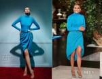 Jennifer Lopez In Sergio Hudson - The Ellen DeGeneres Show