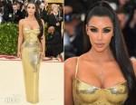 Kim Kardashian In Atelier Versace - 2018 Met Gala