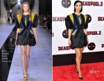 Morena Baccarin In Dice Kayek Couture - 'Deadpool 2' New York Screening