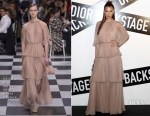Bella Hadid In Christian Dior Haute Couture - Dior Backstage Launch Party