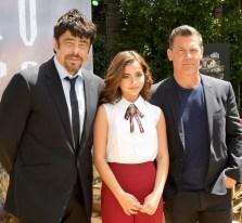 Benicio Del Toro, Isabela Moner, and Josh Brolin attend the 'Sicario Day Of The Soldado' Photocall
