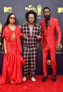 Tessa Thompson, director Boots Riley, and Lakeith Stanfield attend the 2018 MTV Movie And TV Awards