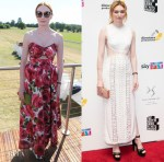Eleanor Tomlinson In Michael Kors Collection & Zimmermann - Audi Polo Challenge & The Southbank Sky Arts Awards