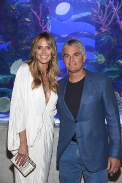 Heidi Klum and Frank Ruocco pose for a photo together at Ocean Resort Casino
