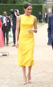 Meghan, Duchess of Sussex In Brandon Maxwell