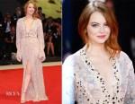 Emma Stone In Louis Vuitton - 'The Favourite' Venice Film Festival Premiere