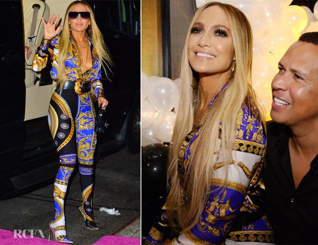 Jennifer Lopez In Versace - Jennifer Lopez's MTV VMA's Vanguard Award Celebration After-Party