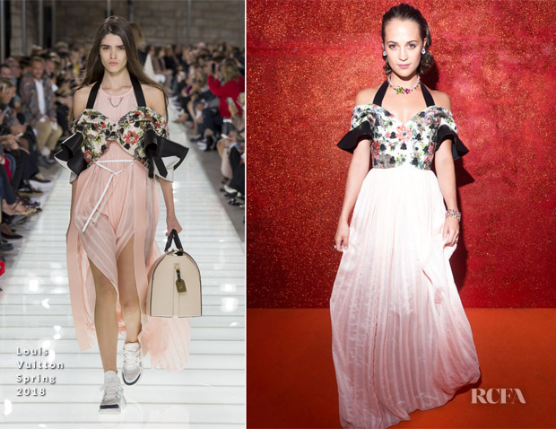 Alicia Vikander In Louis Vuitton - BVLGARI: Tribute to Femininity