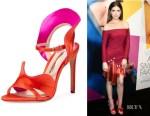 Anna Kendrick's Sophia Webster Lucia Colorblock Ruffle Sandals