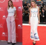 Christa Théret In Chanel - Doubles Vies (Non Fiction) Venice Film Festival Photocall & Premiere