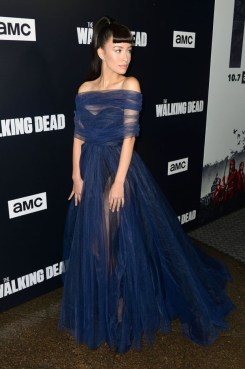 Christian Serratos In Galia Lahav - 'The Walking Dead' Season 9 Premiere