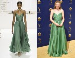 Dakota Fanning In Christian Dior Haute Couture - 2018 Emmy Awards