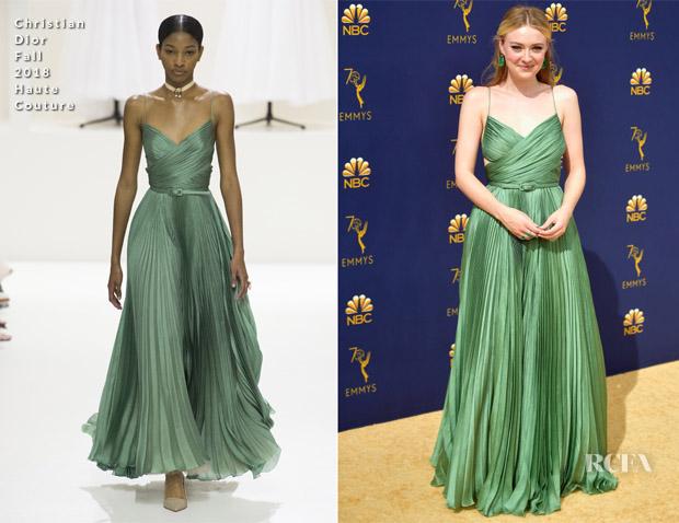 Dakota Fanning In Christian Dior Haute Couture - 2018 Emmy Awards