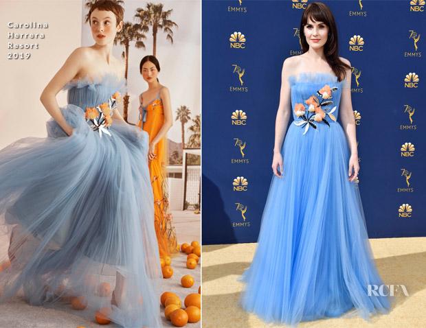 Michelle Dockery In Carolina Herrera - 2018 Emmy Awards