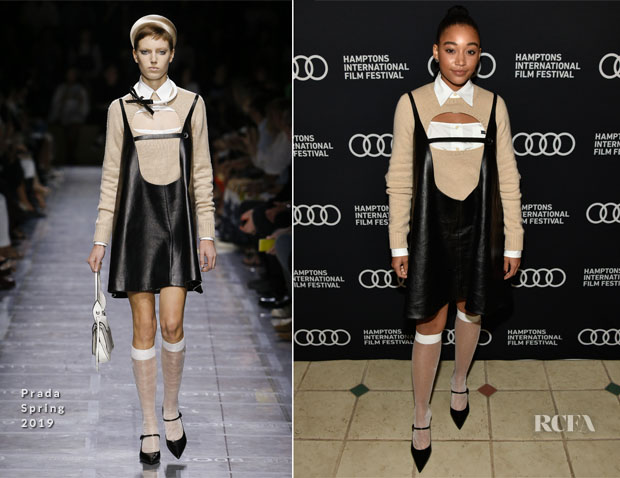 Amandla Stenberg In Prada - Hamptons International Film Festival 2018