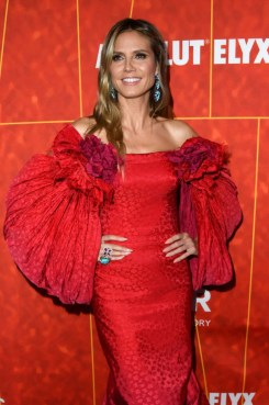 Heidi Klum In Zac Posen - amfAR Los Angeles 2018