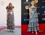 Kiernan Shipka In Rosie Assoulin - Netflixs 'Chilling Adventures of Sabrina' Photocall