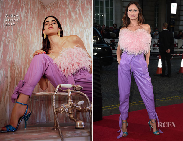 Olga Kurylenko In Attico - 'Johnny English Strikes Again' London Screening