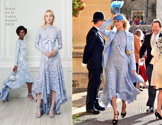 Poppy Delevingne In Oscar de la Renta - Princess Eugenie Of York's Wedding