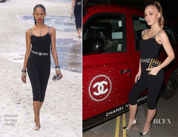 Lily-Rose Depp In Chanel - Chanel N5 L'Eau Red Limited Edition Launch Party2