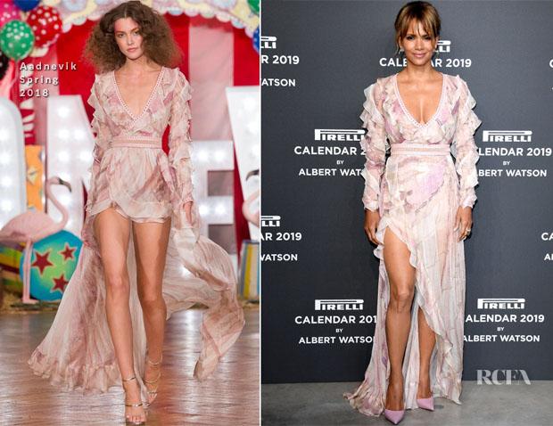Fashion Blogger Catherine Kallon feature the Halle Berry In Aadnevik - 2019 Pirelli Calendar Launch Gala