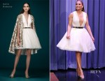 Fashion Blogger Catherine Kallon feature Jennifer Lopez In Saiid Kobeisy - The Tonight Show Starring Jimmy Fallon