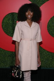 Fashion Blogger Catherine Kallon feature the Kiki Layne In Christian Dior - 2018 GQ Men Of The Year Party