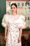 Fashion Blogger Catherine Kallon Features Rosa Salazar In Mulberry - 'Bird Box' New York Screening